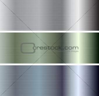 Abstract vector metallic plate banners