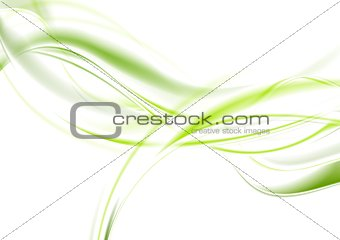 Abstract bright green waves