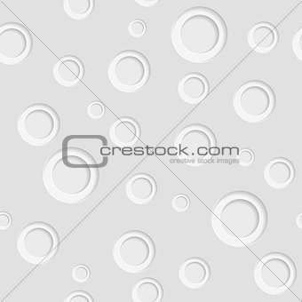 Grey paper circles seamless pattern design