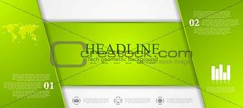 Green tech corporate banner design