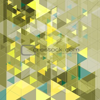 Abstract tech retro geometric background