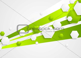 Abstract green tech vector background