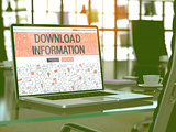 Download Information Concept on Laptop Screen.