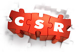 CSR - White Word on Red Puzzles.