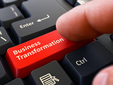 Business Transformation - Written on Red Keyboard Key.