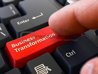 Business Transformation - Written on Red Keyboard Key.