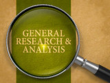 General Research and Analysis through Magnifying Glass.