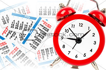 Alarm clock with calendar