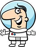 astronaut cartoon illustration