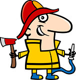fireman cartoon illustration