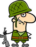 soldier cartoon illustration