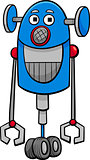 funny robot cartoon illustration