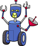 robot cartoon character