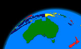 Australia on planet Earth political map