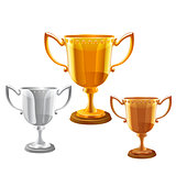 trophy vector set.