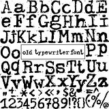 vector old typewriter font