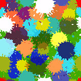seamless vector colorful blotch pattern