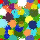 seamless vector colorful blotch pattern