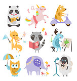 Cute Childish Animals Vector Set