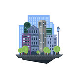 Urban Landscape. Vector Illustration