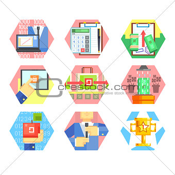 Business, Office and Marketing Icons. Vector Set