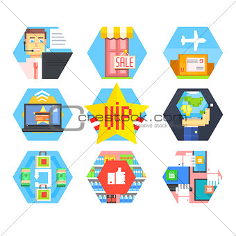 Business, Office and Marketing Icons. Flat Vector Set