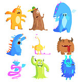 Cute Monsters and Aliens Set