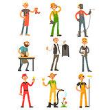 Men Profession Colourful Set