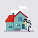 Theft Insurance Vector Illustartion