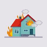 Fire Insurance Vector Illustartion