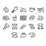 Seafood Vector Illustration Set