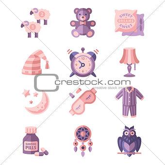 Sleep Related Vector Icons