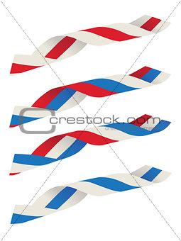 Abstract ribbon flag