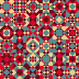 Vector Seamless Geometric Blocks Quilt Pattern