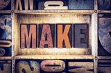 Make Concept Letterpress Type