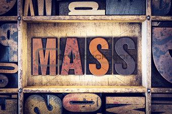 Mass Concept Letterpress Type