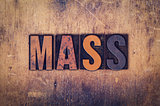 Mass Concept Wooden Letterpress Type