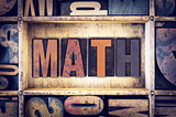 Math Concept Letterpress Type