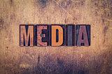 Media Concept Wooden Letterpress Type