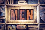 Men Concept Letterpress Type