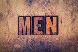 Men Concept Wooden Letterpress Type