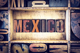 Mexico Concept Letterpress Type