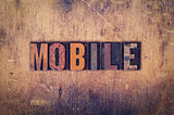 Mobile Concept Wooden Letterpress Type