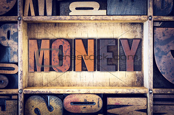 Money Concept Letterpress Type