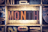 Month Concept Letterpress Type
