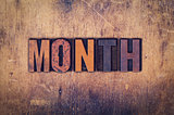 Month Concept Wooden Letterpress Type