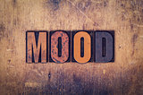 Mood Concept Wooden Letterpress Type