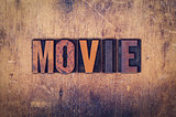 Movie Concept Wooden Letterpress Type