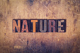 Nature Concept Wooden Letterpress Type