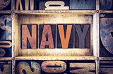 Navy Concept Letterpress Type
